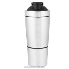 High Quality Stainless Steel Sport Water Bottle Insulated Single Wall shaker bottle,750ml Protein Mixing Cup with Compartment