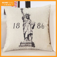America Statue of Liberty printed sofa car hotel decorative throw pillow covers