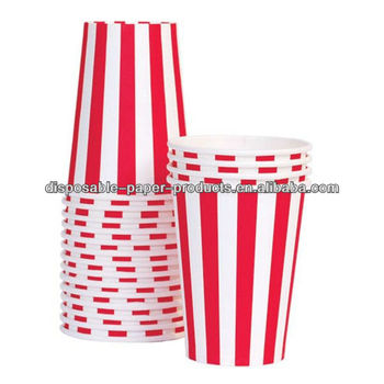 wholesale 2400x 6 color Red Hot Pink Pink Blue Green Black CANDY Vertical STRIPE Paper Cups DRINK KIDS PARTY SUPPLIES, Free Ship