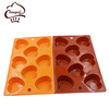 Hot selling custom heart-shaped silicone chocolate mold for cake decorating