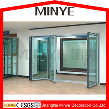 Commercial used tinted glass folding entry door