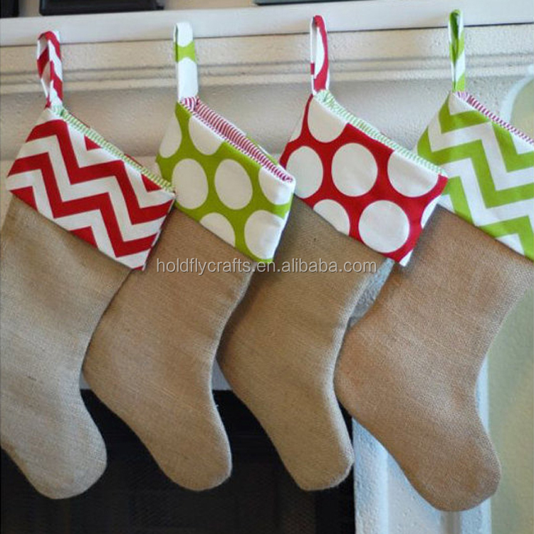 Wholesale Blank Monogrammed Burlap Christmas Stockings