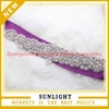 wholesale A-class clear rhinestone applique wedding dress sash