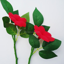 Artificial Rose Red Flower Real Touch Single Flower For Sale