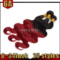 Alibaba Best Quality Cheap Price 3 Bundles Red Brazilian Hair Weave