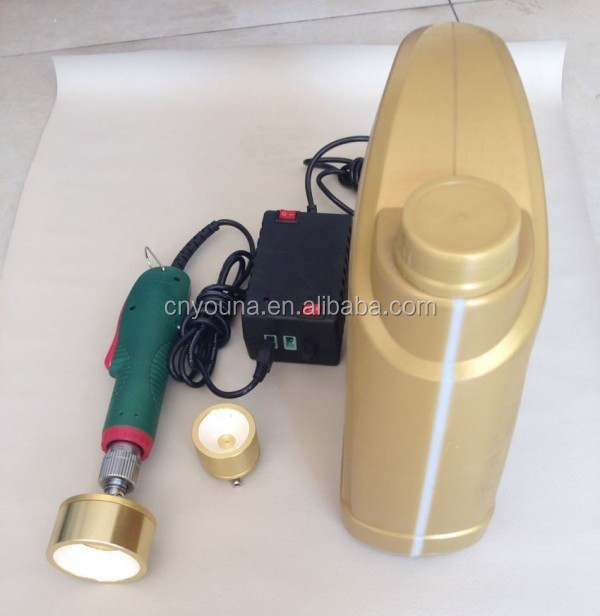 small portable capping machine for plastic thread screw cap