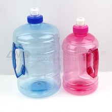 2L water bottle for gym/PET Clear jar with handle/clear plastic water bottles