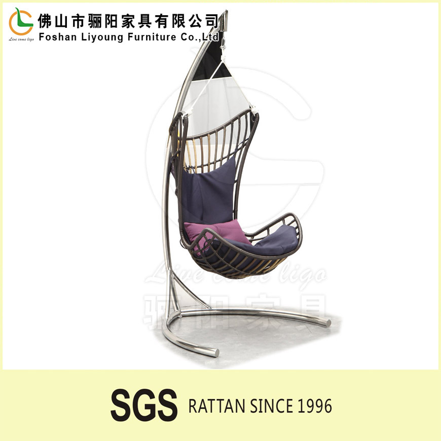 2016 Best-seller Egg Pod Swing Chairs Water Drop Shaped Rattan egg wicker rattan swing hanging chair