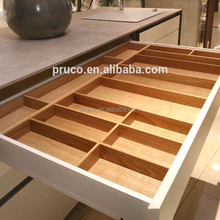 High quality solid wood drawer with slides for kitchen