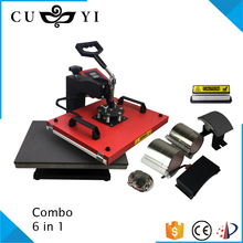 CUYI Heat Tranfer Machine 6 in 1 Combo Heat Press Machine Mug/T-shirt Printing Machine