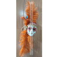 Long Feather 3D Mask Home Decoration Wall or Door Decor Pieces