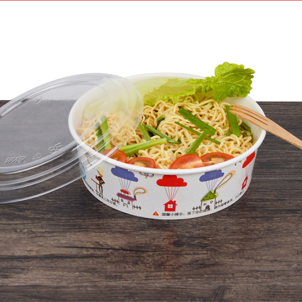 12oz Wholesale Paper Salad Bowl, Disposable Hot Soup Paper Bowl,Disposable Paper Soup