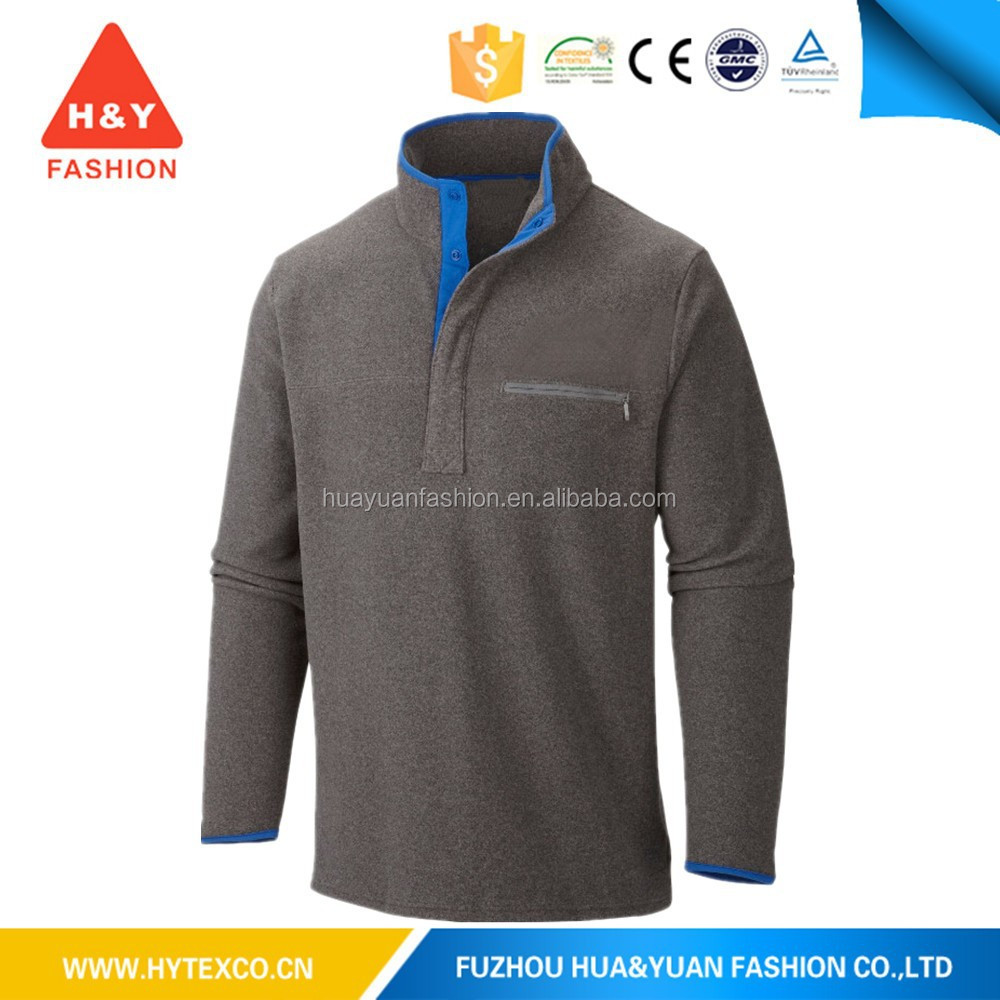 100% Polyester 1/4 Zipper Pullover Outdoor Polar Fleece Jacket for man---7 years alibaba experience