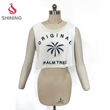 52% COTTON 48% POLY crop tops for women 2017 womens crop tops wholesale plain white crop tops