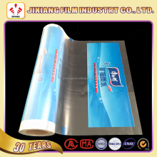 PVC heat shrinkable plsatic roll film for mineral water bottle packing