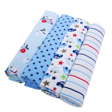 Wholesale soft touch 4packs cotton flannel baby receiving blanket