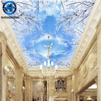 High quality ceiling wall panels 8d funky wallpaper/wall mural cheap price free shipping