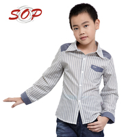 Kids Custom Clothing New Style Fashion Boys Fancy Dress Shirt For Wholesale
