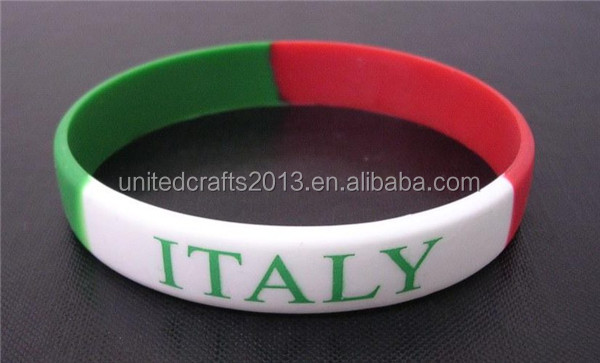 ITALY flag bracelet customize silicone wristband bracelet country flags bracelet