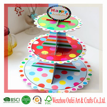 cheap price 3 tier paper cake stand plate
