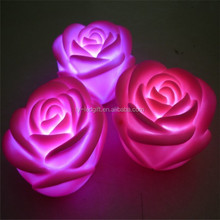 color solar led rose usb flash led lighting gift rose
