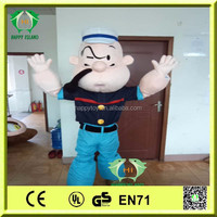 HI CE movie plush mascot costume for adult,popular carton mascot costume,hot sale Popeye mascot costume