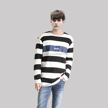 Cheap Casual long sleeve T-shirt latest stripe shirt designs for men