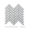 Modern Decorative Bianco Diamante Onyx Marble Herringbone Mosaic