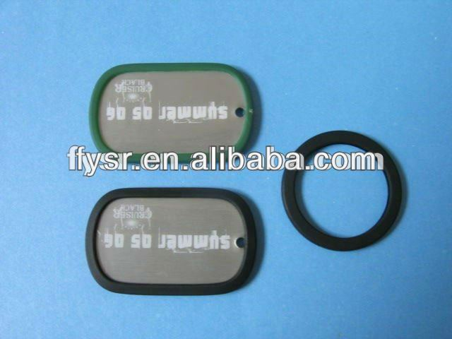Promotional Metal dog tag with silicone edge/cover