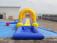 PK16032601 Long arch slip slide Inflatable with pool inflatable factory price