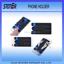 Cheap Silicone 3M sticky Mobile Phone One Touch U Stand Holder