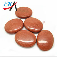 smooth oval shape various material gemstone for decoration