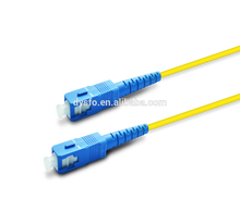 China suppliers High quality low insert loss optical jumper SC-SC single mode PVC jacket simplex fiber optic patch cord