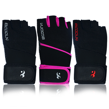 custom fashion long wrist wrap cheap leather fitness gloves for women gloves