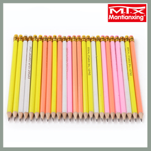 MTX assorted color long strong lead HB pencil with eraser charcoal newspaper pencil custom