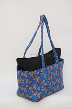 100% ECO-FRIENDLY NEW QUILTED POCKET TOTE BAG