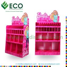 Pink printing advertising display stand for books , corrugated floor display for promotion