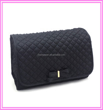 Travel Quilted Satin Cosmetic Makeup Bag For Girls