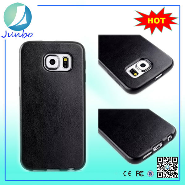 Hot selling pu leather sublimation mobile case for samsung s6 edge