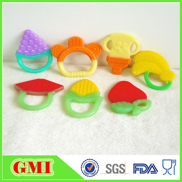 Baby Fruit Teether Teething Toys Chewable Silicone Teethers