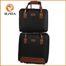 Fashion waterproof cheap carry on luggage bag, polyester trolley traveling bags