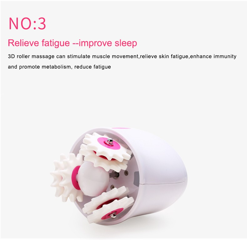 portable 360 rotation body relax tone kneading massager wireless roll