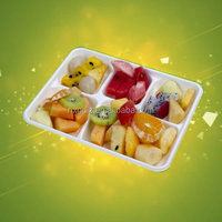 100% Biodegradable Microwavable 5 Compartment School Lunch Tray