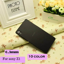 Case For Sony Xperia Z1 Case 0.3mm Ultra Thin Slim Matte Transparent Cover For Sony z1 L39H flip cover
