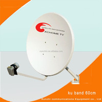 ku band 60cm satellite dish antenna/tv receiver/wifi antenna/gps/fm