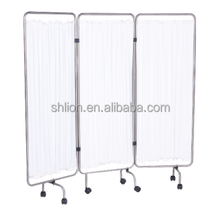 3 Folded Curtain Screen Aluminum Steel Four Parts Hospital Room Divider Hospital Ward Screen