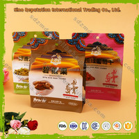 Custom printed quad seal flat bottom dry fruit bags with ziplock