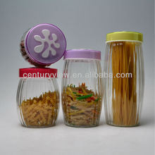 pasta coffee candy cookie canister glass herb storage jars