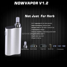 2014 pocket size dry herb vaporizer Now Vapor V1.2 dry herb dabstix glass globe vaporizer pen