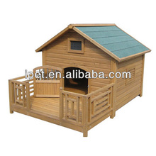 Wooden dog cage cover with balcony DK006